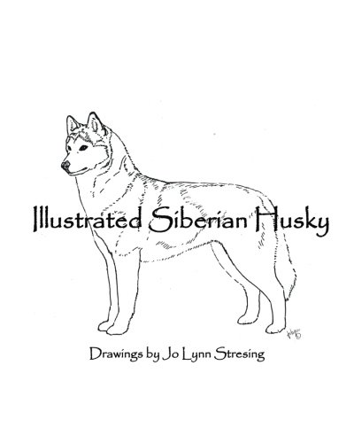 https://www.amazon.com/Illustrated-Siberian-Husky-Drawings-Stresing/dp/153773575